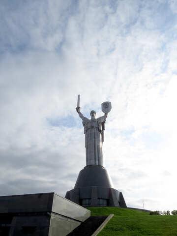 Un monumento alla vittoria nella seconda guerra mondiale Kiev Ucraina №30598