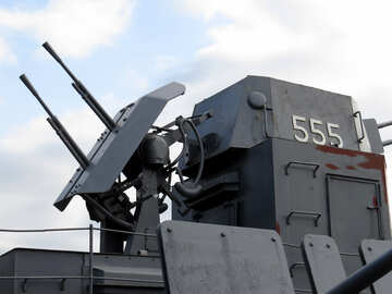 Il cannone di veloce-infornamento sulla nave №30657