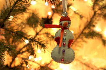 Christmas tree toy snowman №30993