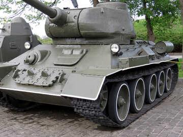 The t-34 Soviet tank of World War II №30702