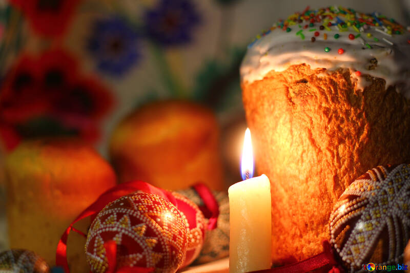 Candle eggs and Easter №30087