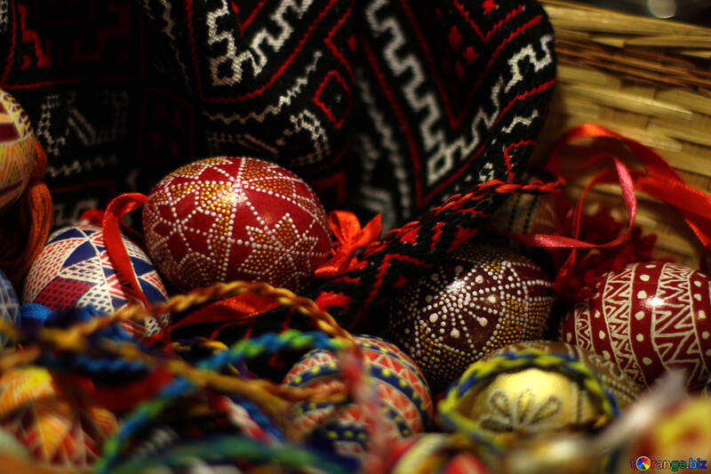 Easter eggs in basket №30051