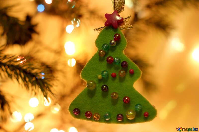 Children`s Christmas felt crafts №30990