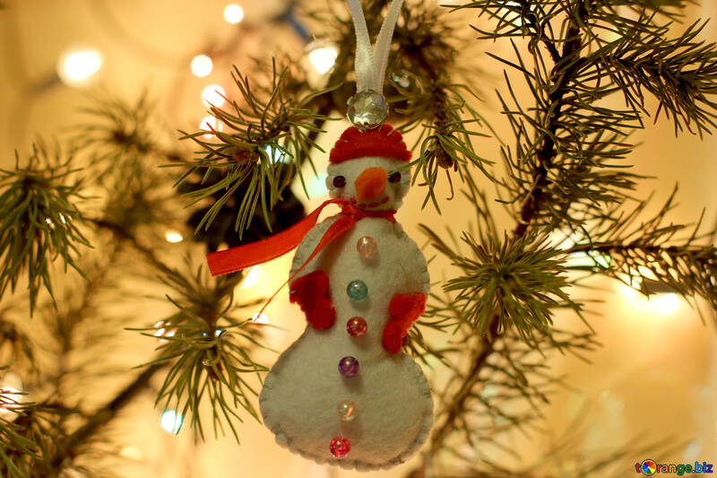 Children`s crafts made of felt for the new year №30989