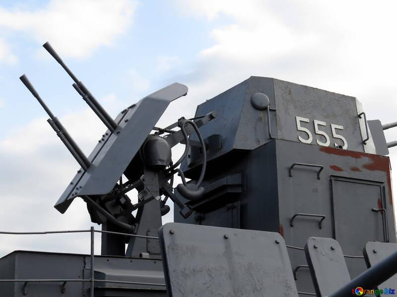 Die schnell feuernden Kanone auf dem Schiff №30657