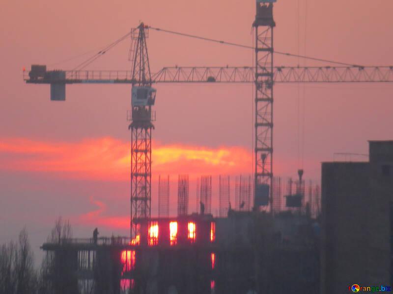 Sun sunset and construction №30337