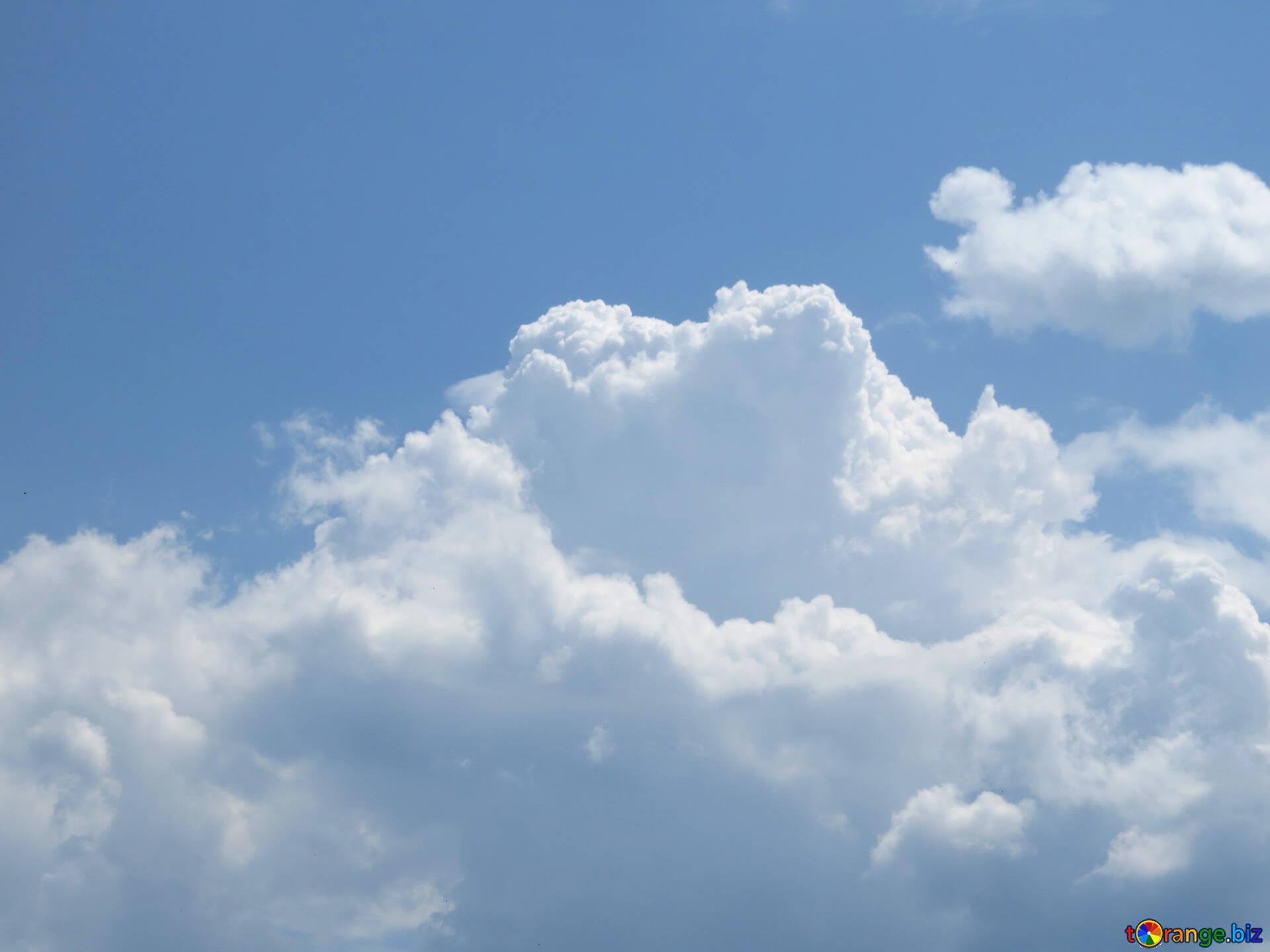 Weiße wolken weiche flauschige wolken himmel № 31544