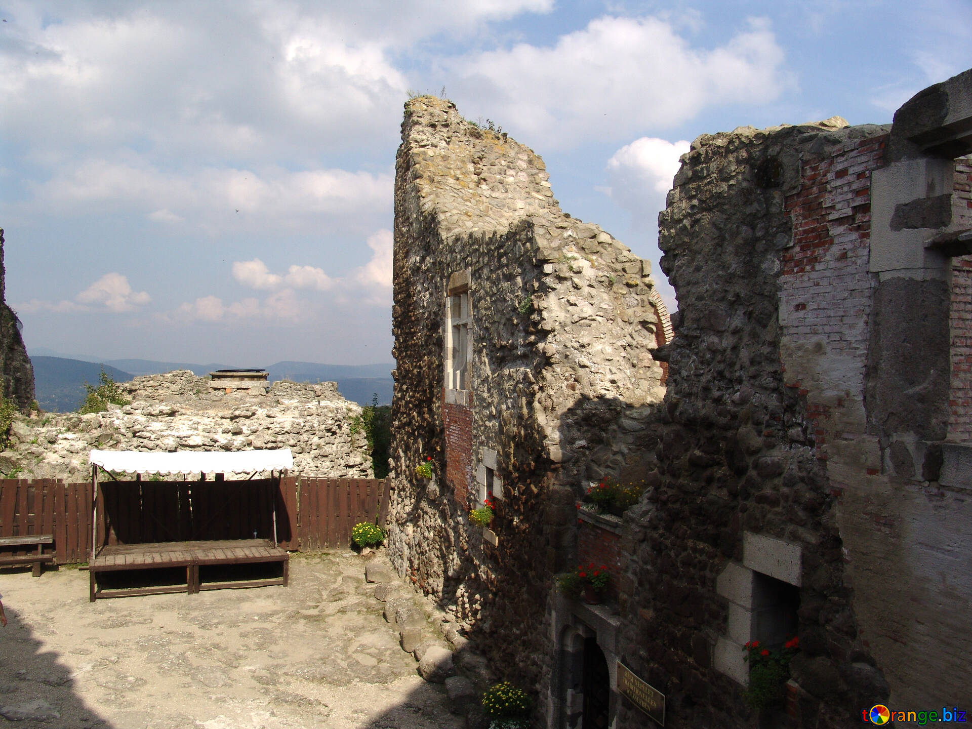 Download Free Image The Ruins Of An Ancient House In