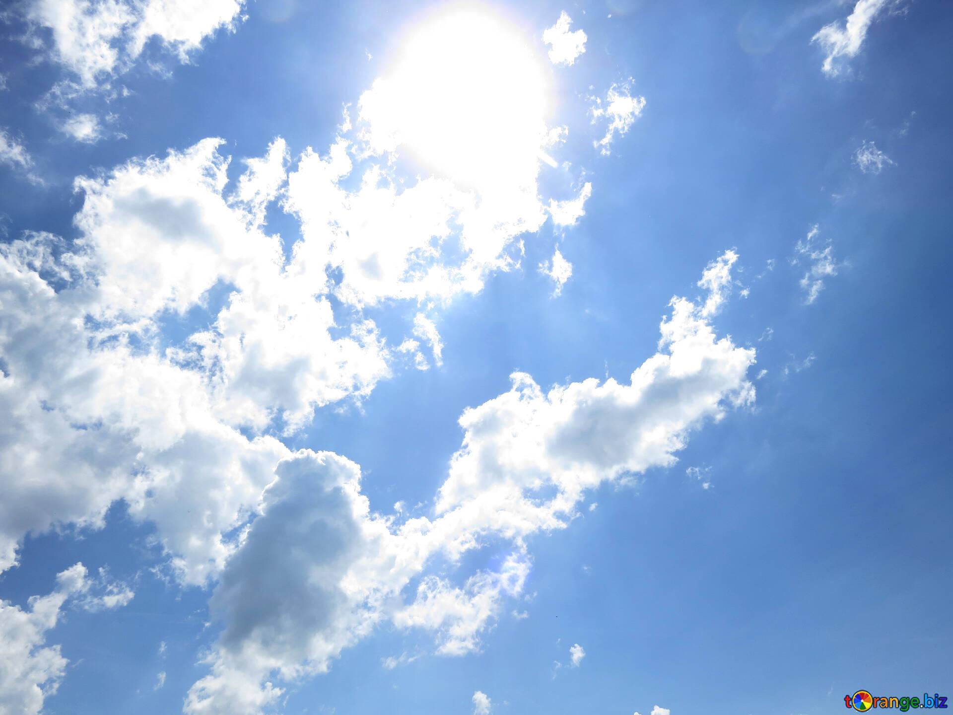Blauer himmel sonne und wolken licht № 31594