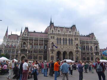 Touristen auf dem Platz №31917