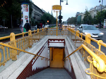 Entrance to the Budapest Metro №31885