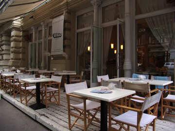 Уличный европейский ресторан  №31894