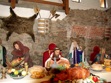 The King`s installation dinner in an ancient castle №31815