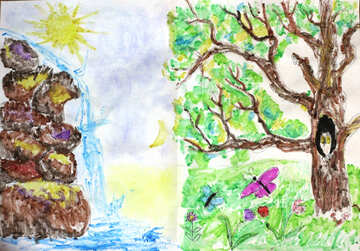 Live and not wildlife children`s drawing №31405