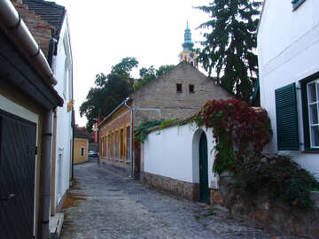 The quiet street of the European city №31775