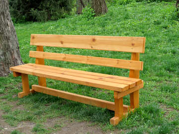 Wooden bench №31333