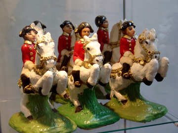 Riders on horseback from marzipan №31736