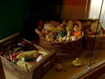 Vegetables and fruits of marzipan №31730