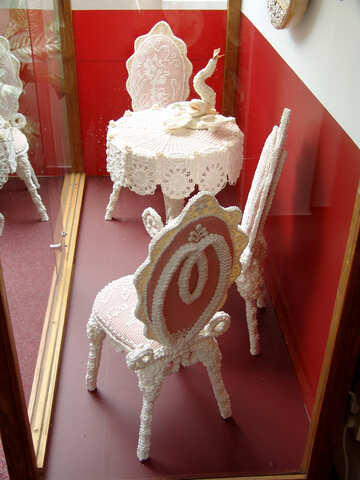 Antique furniture made of marzipan №31734