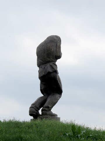 Statua del soldato ferito №31344