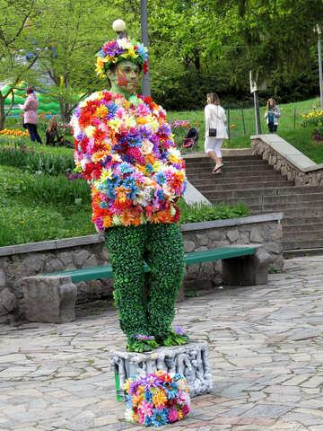 Flower man №31147