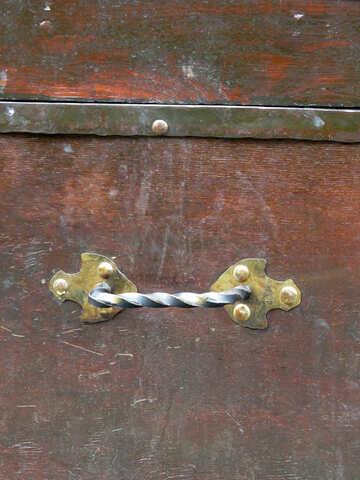 Antique wrought iron handle №31213