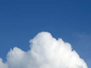 White cloud on blue background №31045