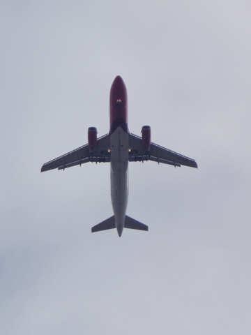 Plane in the sky №31680