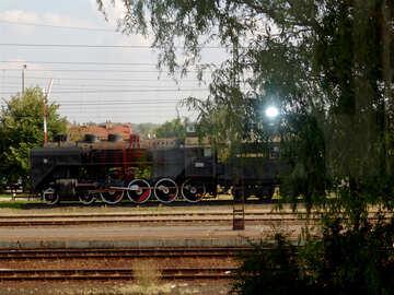 An old steam locomotive №31708