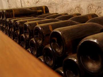 Wine bottles №31690