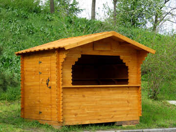 Деревянный киоск для торговли №31139