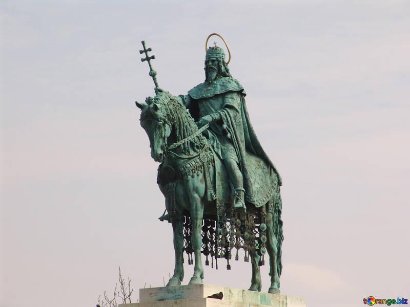 Reiterstandbild des St. Stephen, Budapest Ungarn №31993