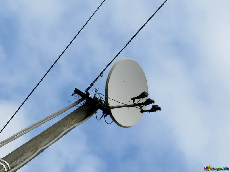 The satellite dish on the electric pole №31194