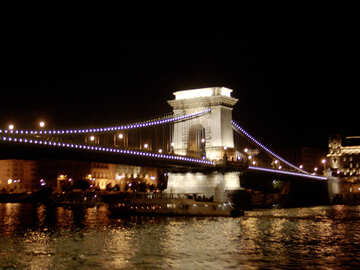 Budapest Bridge at night №32088