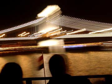 Lighting of the bridge at night №32077