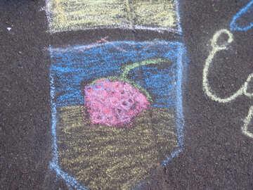 Kids drawing chalk Berry №32572