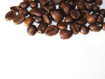 Coffee grains on white background №32292