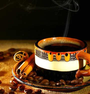 Coffee with smoke №32186