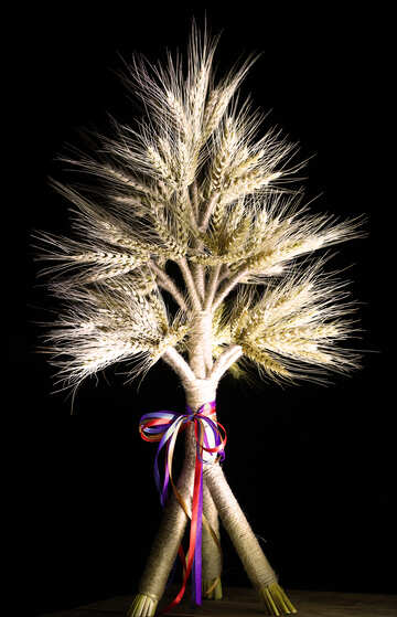 Christmas ornament of spikelets №32359