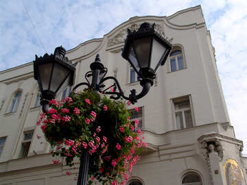 The oldest lamp near the old building №32019