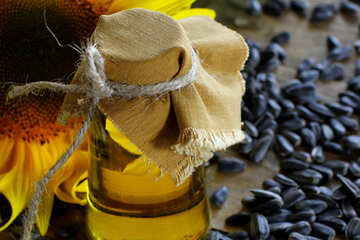 Oil and sunflower seeds №32743