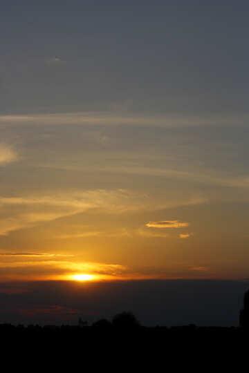 Il cielo di sera al tramonto №32440