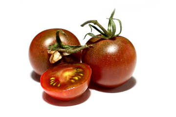 High-quality tomatoes on white background №32907