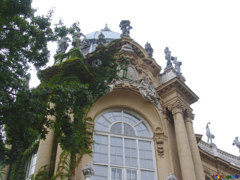 The sculptures on the old building №32045
