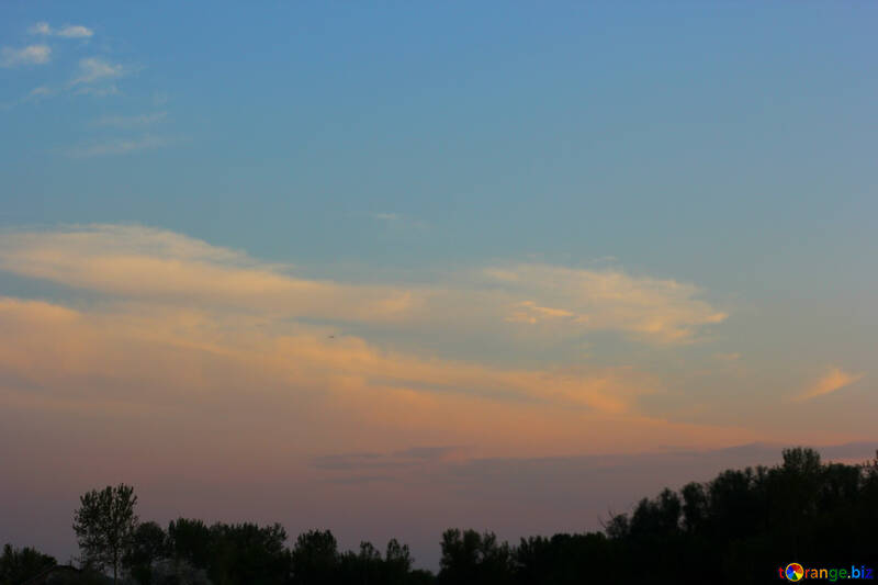 A beautiful evening sky №32439