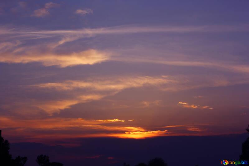 Sky at sunset №32426