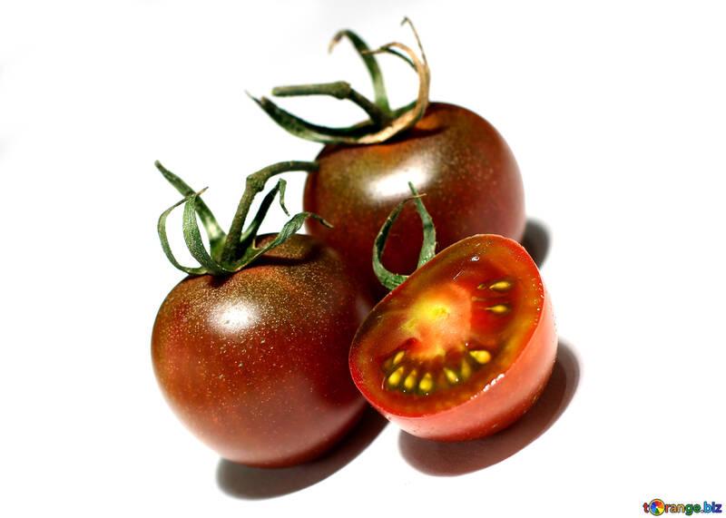 Black tomato in isolation №32911