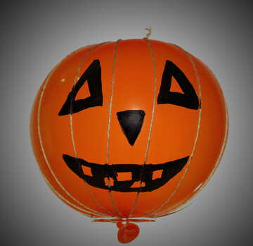 Make pumpkin from Halloween balloon №33651