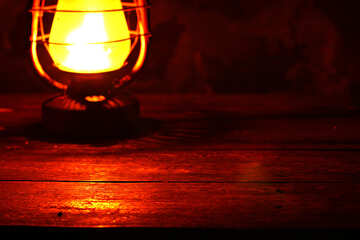 Background with kerosene lamp on the table №33909