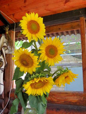 Rustikale Sonnenblumen-Strauß №33048